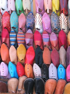 Moroccan Shopping in the Medina, Baboosh, Shoes