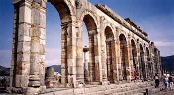 Volubilis, Roman arches