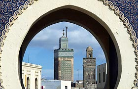 Bab Boujoloud The Blue entrance Gate of the Old Fes Medina