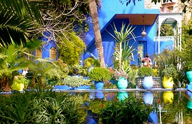 The Majorelle Garden in Marrakech