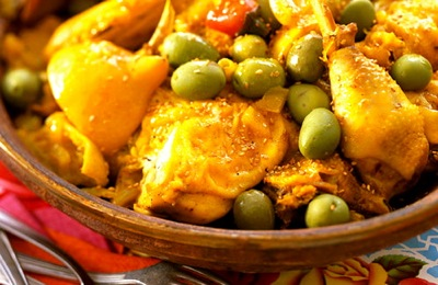 ... المغربي: Moroccan Chicken with Lemon and Olives Recipe