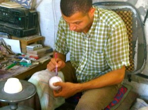 Man Painting Pottery, Cooperative Fes