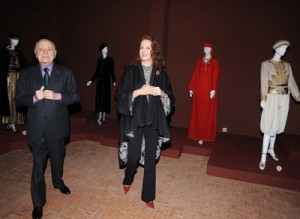 Princess Lalla Salma at Yves Saint Laurent Exhibition Majorelle Gardens