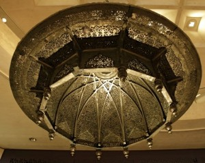 Chandelier Al-Qarawiyyin Mosque in Fez, Morocco - Courtesy of the Louvre Museum