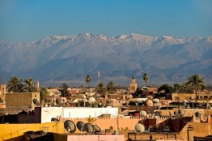Marrakech,Snowcapped Atlas Mountains
