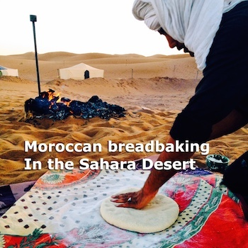 Bread baking in the Sahara, Photograph by Amanda Mouttaki
