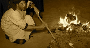 Bonfire in Sahara Desert, Adventure Tour