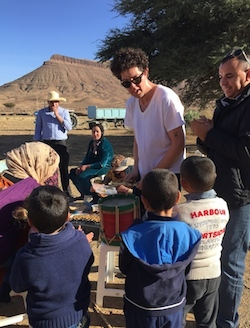Morocco Family Vacation, Village Drum Session