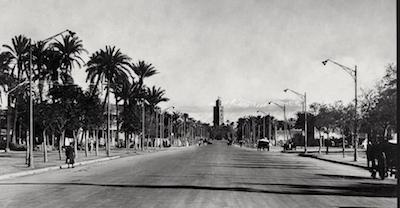 Avenue Mohammed V (Former avenue Mangin 1930) Gueliz