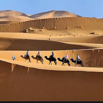 Erg Chebbi Dunes, Camel Trekking, Merzouga